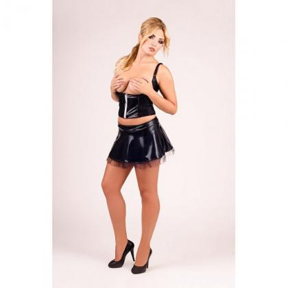Half latex Corset Sexy Skirt big pl..