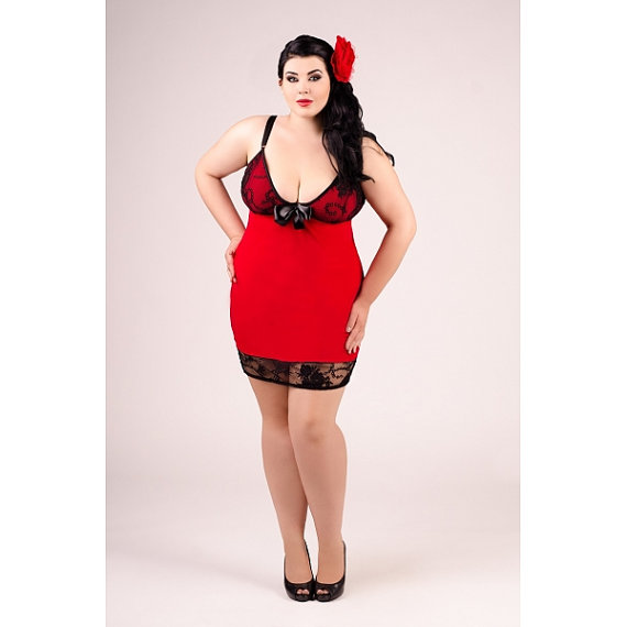 valentines sexy erotic red lingerie Chemise Camisole big plus queen size XL 2XL 3XL 4XL for bbw X 2X 3X 4X EU 40 - 56, UK 10 - 24