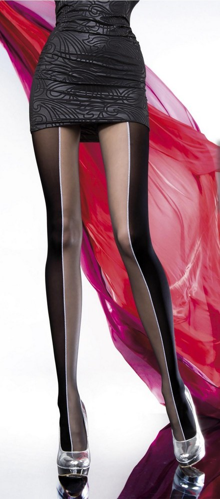 Ladies Patterned Tights 20 DEN Hosiery Black S - XL SIZE 2 3 4 5 high quality !!!