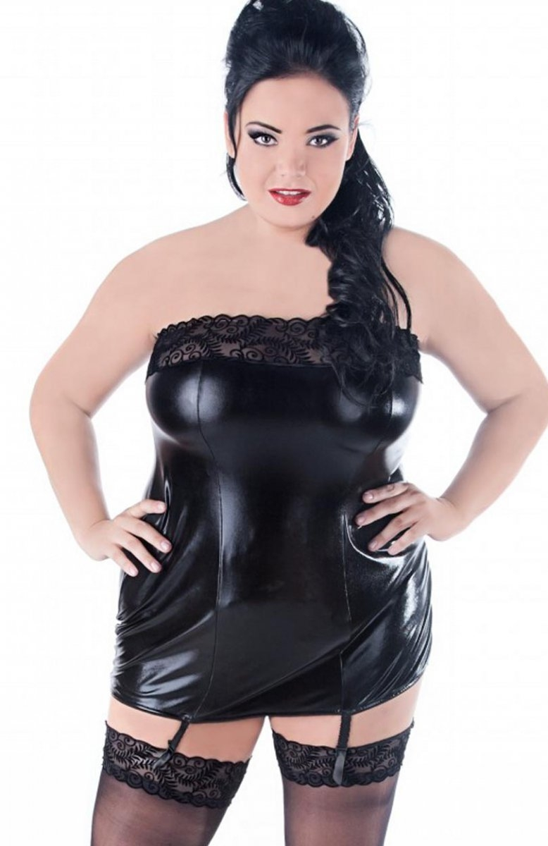ae21d85a1d8 sexy wetlook dress - chemise lingerie plus size 1X 2X 3X 4X EU 38 - 56