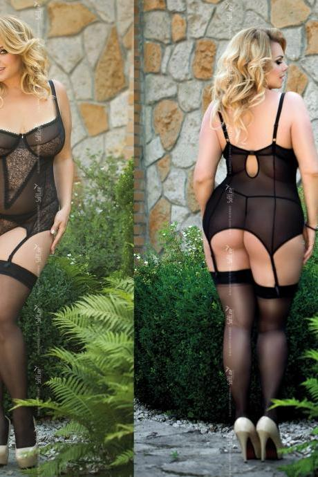 plus size black corset 3X XXXL 3XL for EU 48 - 52 UK 16 - 20