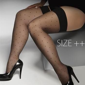 very big stockings black Hold Ups plus size for bbw 5X 6X 7X 8X hold-ups UK 16-26 EU 48-54 5XL 6XL 7XL 8XL