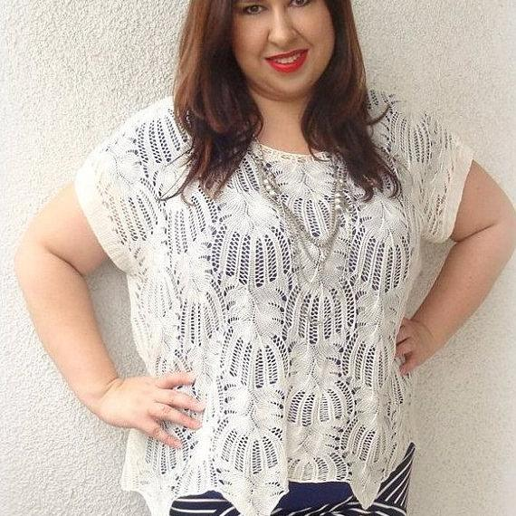 ivory tunic 2xl 3xl xl xxl xxxl 3x UK 16 - 22 EU 46 - 54 plus curvy big large size OVERSIZE